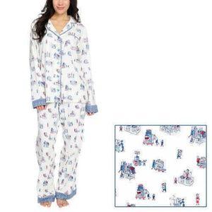 Munki Munki Womens 2 Piece Flannel Classic Pajama